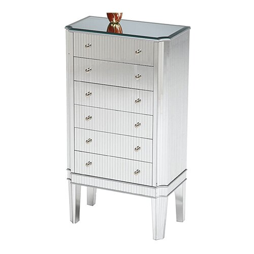 Bailey Street Vidrio Jewelry Armoire with Mirror