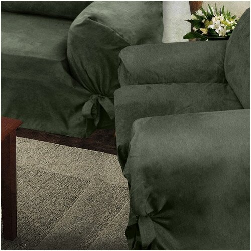 Villa Suede Wrap Slip Chair Slipcover
