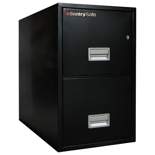 "Sentry Safe 16.6"" W x 31"" D 2-Drawer Fireproof Key Lock 2 Drawer Letter File Safe"