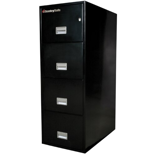"Sentry Safe 19.6"" W x 31"" D 4-Drawer Fireproof Key Lock Letter File Safe"