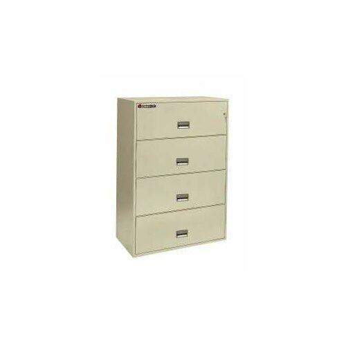 """Sentry Safe 35.8"""" W x 20.4"""" D 4-Drawer Fireproof Key Lock Letter File Safe"""