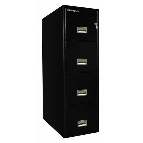 """Sentry Safe 16.6"""" W x 31"""" D 4-Drawer Fireproof Key Lock Letter File Safe"""