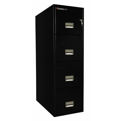 "Sentry Safe 16.6"" W x 31"" D 4-Drawer Fireproof Key Lock Letter File Safe"