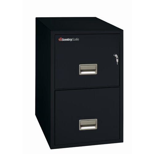 Sentry Safe 2-Drawer Fireproof Key Lock Letter File Safe
