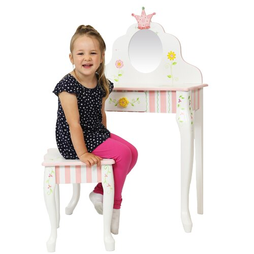 Teamson Design Corp. Princess and Frog Vanity Table & Stool