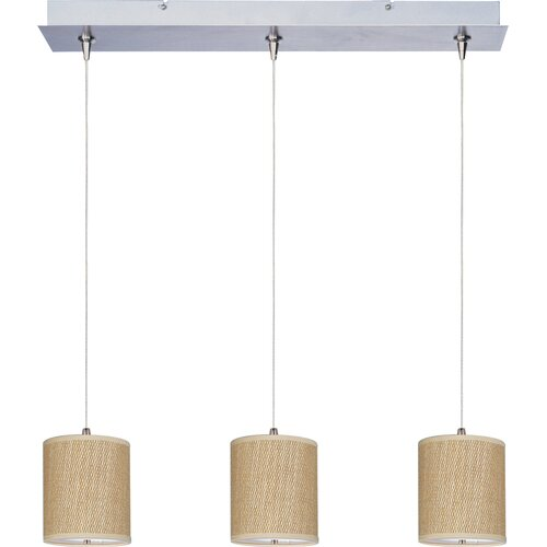 "ET2 Elements 7"" 3 Light RapidJack Linear Pendant"
