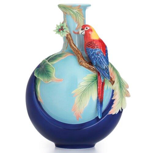 Winged Parrot Vase