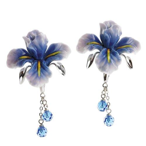 Franz Collection Iris Flower Earrings