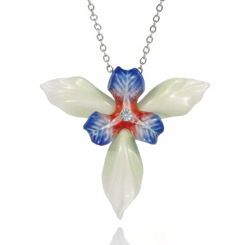 Iris Flower Necklace