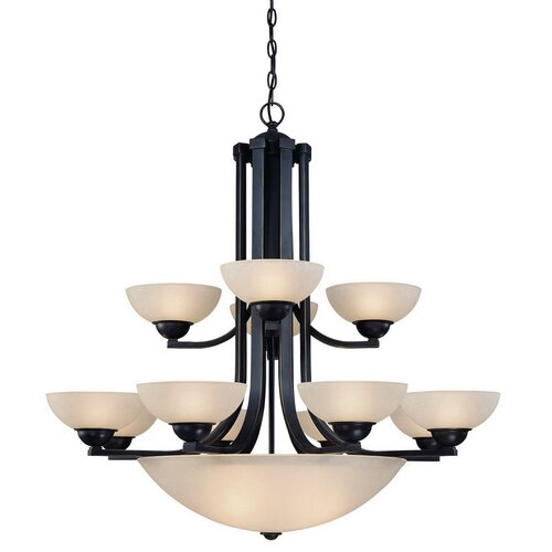 Dolan Designs Fireside 15 Light Bowl Chandelier