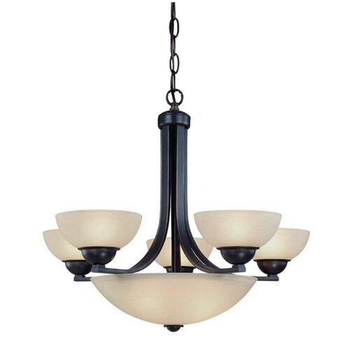 Dolan Designs Fireside 8 Light Bowl Chandelier