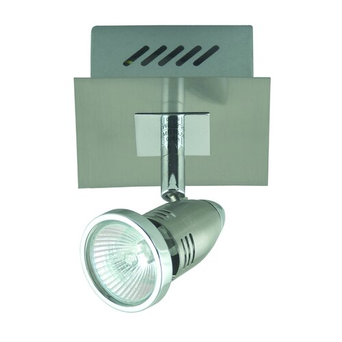 Domus Lighting Fratelle One Light Wall Spotlight in Brushed Chrome