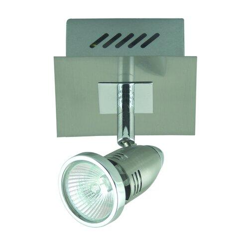 Domus Lighting Fratelle One Light Wall Spotlight in Brushed Chrome