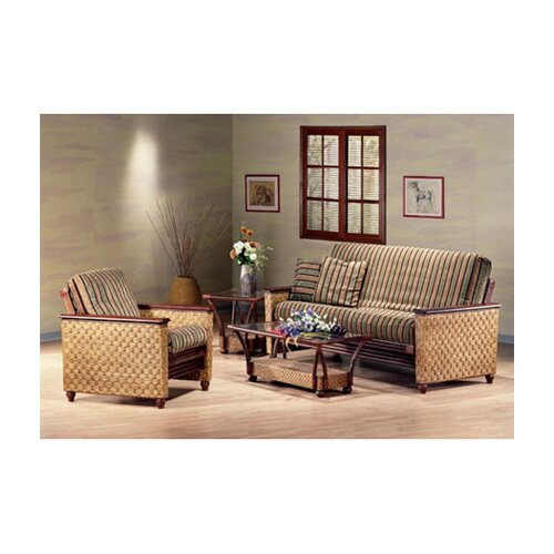 Night & Day Furniture Rattan Floral Tulip Coffee Table