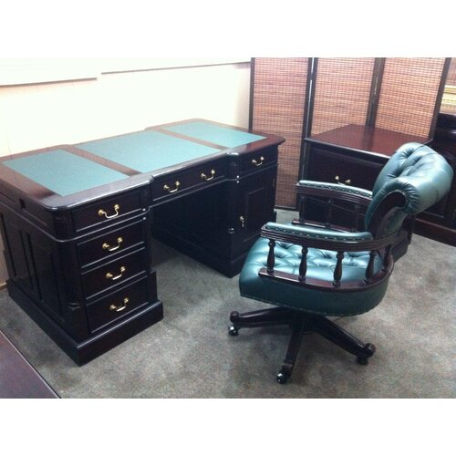 VC Living Antique Reproduction Partners Desk