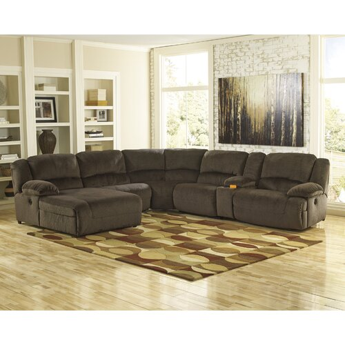Power Reclining Sectional With Right Press Back Chaise By: Braddock Sectional