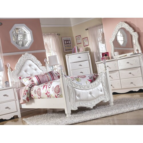 Signature Design By Ashley Exquisite Kids Four Poster Bed Reviews Wayfair