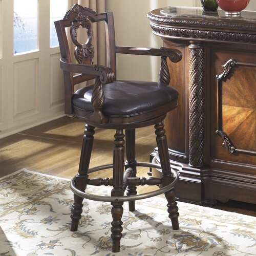 North Shore Tall Swivel Bar Stool with Cushion