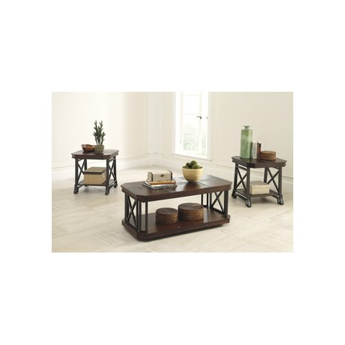 Ashley Mallacar Piece Coffee Table Set In Black T: Vinasville 3 Piece Coffee Table Set