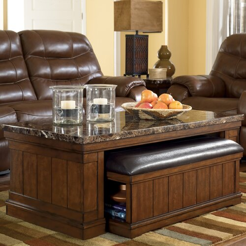 Signature Design by Ashley Mapleton Coffee Table with Ottoman