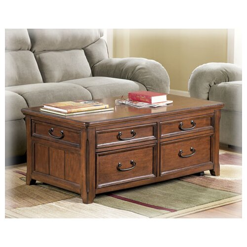 wildon home collins trunk coffee table with lift top reviews wayfair. Black Bedroom Furniture Sets. Home Design Ideas