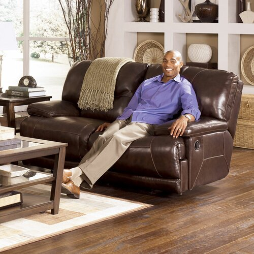 Venice Leather Reclining Loveseat