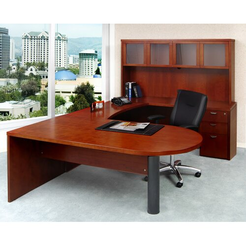 Shaped Desk With Hutch Desk With Hutch by