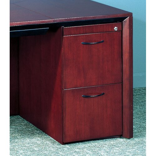 Mayline Group Corsica Series 2-Drawer Pedestal File