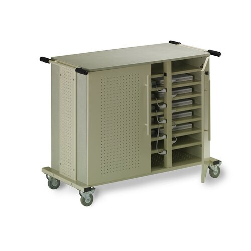 Mayline Group 24-Compartment Laptop Cart