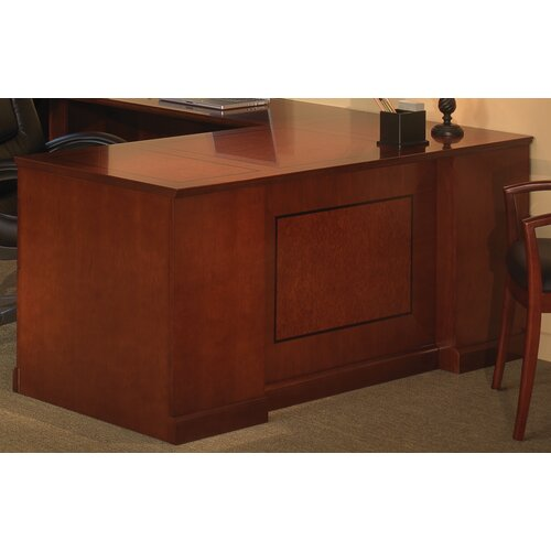 "Mayline Group Sorrento 72"" Double Pedestal Desk with Straight Front"
