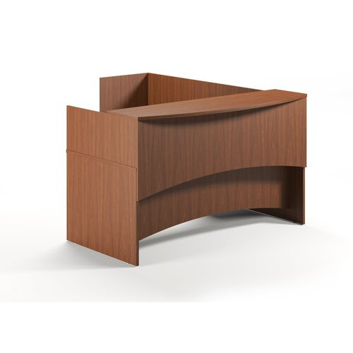 Mayline Group Brighton Series L-Shape Desk Office Suite