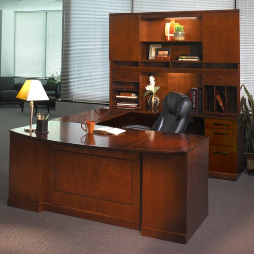 Mayline Group Sorrento Series Typical #1 Standard Desk Office Suite