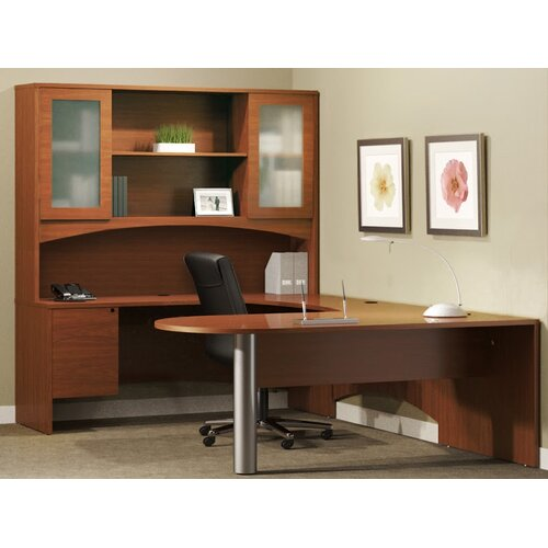 Mayline Group Brighton Series U-Shape Peninsula Desk Office Suite