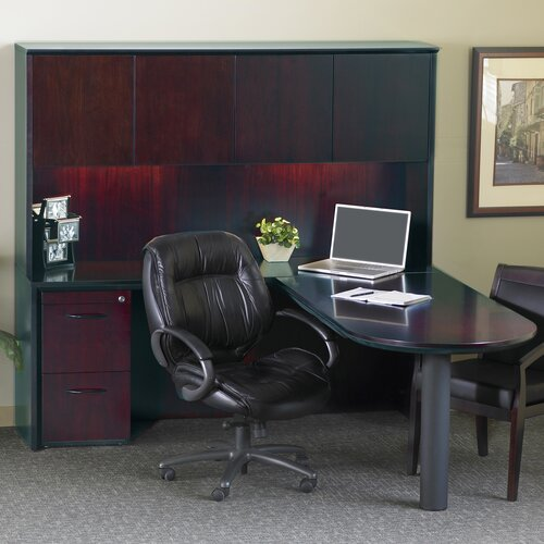 Mayline Group Corsica Series L-Shape Computer Desk with Hutch