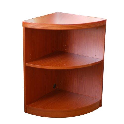 """Mayline Group 2 Shelf Quarter Round 29.5"""" Bookcase"""