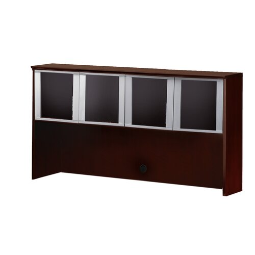 "Mayline Group Corsica Series 38.5"" H x 72"" W Glass Door Desk Hutch"