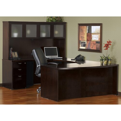 Mayline Group Mira Series U-Shape Executive Desk Typical #10
