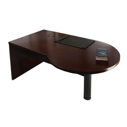 "Mayline Group Mira Series 29.38"" H x 72"" W Left Desk Peninsula"