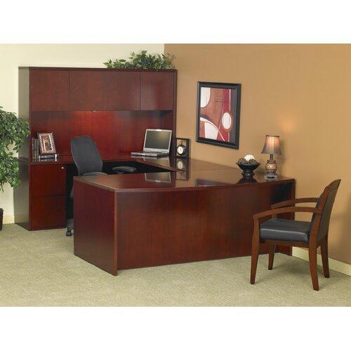 Mayline Group Luminary Series U-Shape Executive Desk Typical #9