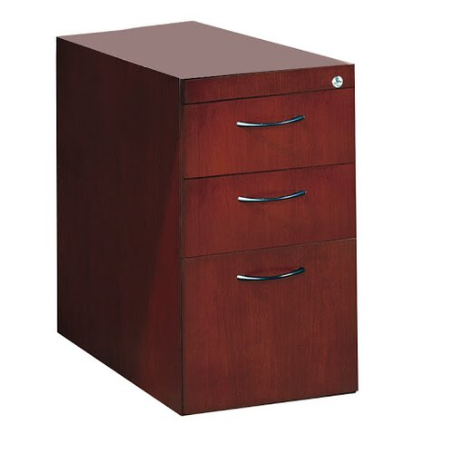 Mayline Group Corsica Series 3-Drawer Pedestal File