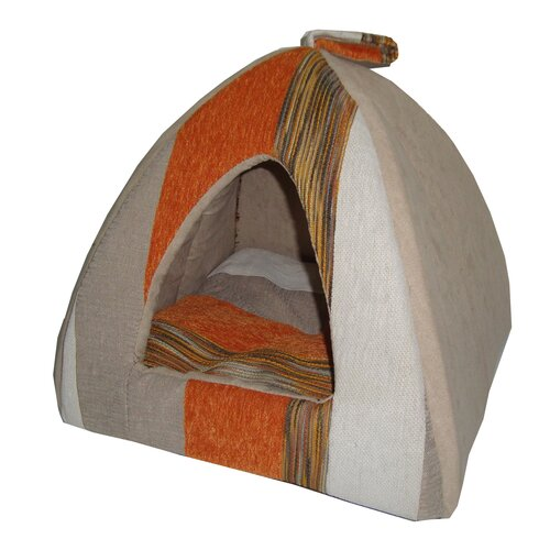 Striped Tent Dog Dome