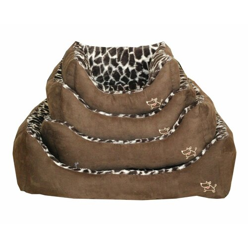 Animal Print Bolster Dog Bed
