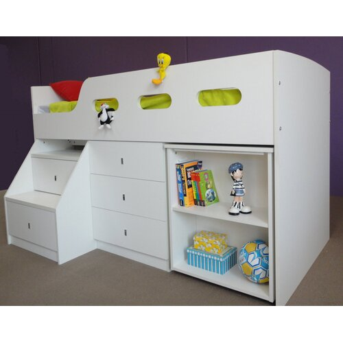 Single Bunk Bed with Desk 500 x 500