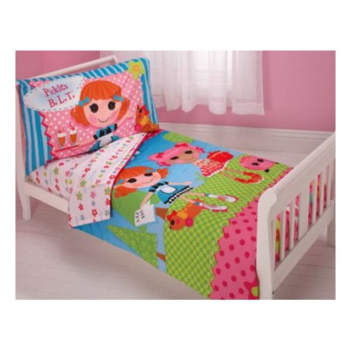 Crown Crafts Lalaloopsy 4 Piece Toddler Bedding Set