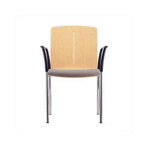 Source Seating Zag Four Leather Guest Side Chair