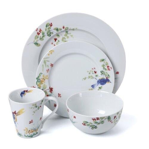 Signature Dinnerware Spring Medley 16 Piece Dinnerware Set