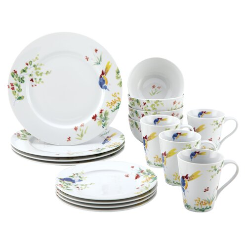 Signature Dinnerware Spring Medley 16 Piece Dinnerware Set