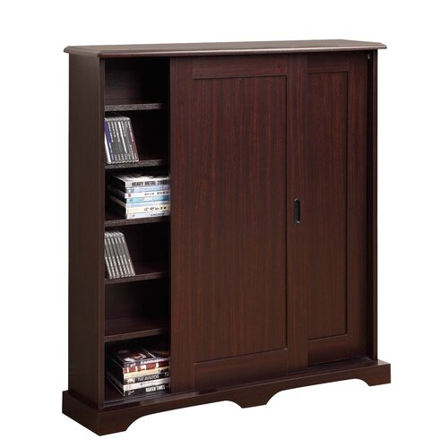 4d concepts entertainment sliding door multimedia cabinet reviews wayfair - Kabinet multimedia ...