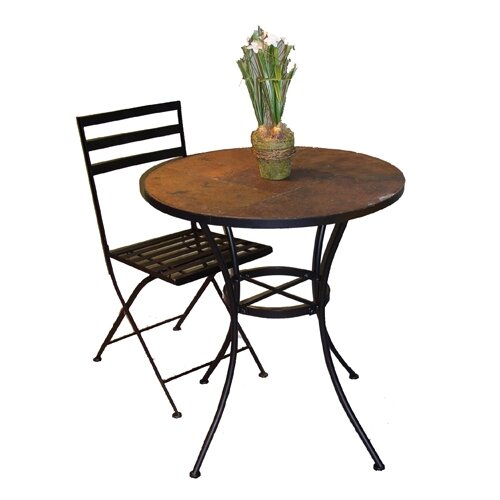 4D Concepts Round Bistro Table with Slate Top
