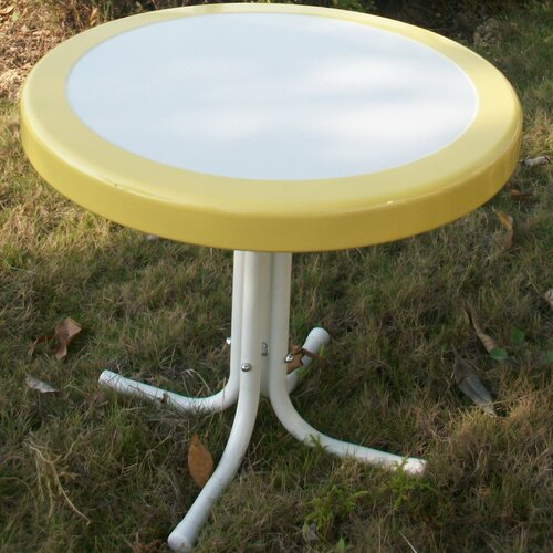 4D Concepts Metal Retro Round Side Table